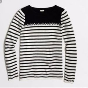J Crew Factory Breton-striped sweater with gems